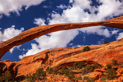 Landscape Arch Rock Canyon Devils Garden Arches National Park Mo Royalty Free Stock Photography