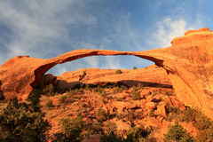 Landscape Arch at Sunrise Royalty Free Stock Photos