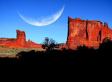 Landscape in Arches National Park Stock Photos