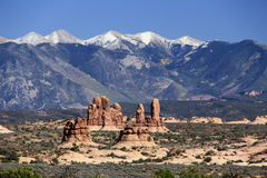 Landscape in Arches National Park Stock Photo