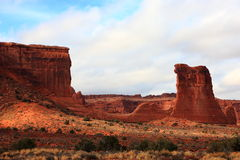 Landscape of Arches national park Stock Photography