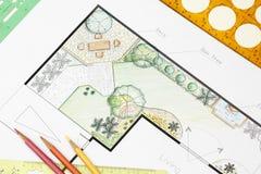 Free Landscape Architect Design Garden Plan Stock Photography - 47048052