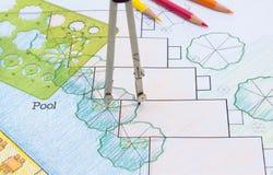 Landscape Architect Design hotel resort plan Stock Photography