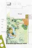 Landscape Architect design water garden plans Stock Photography
