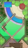 Landscape Architect Drawing. ?lanning of green space on  site Stock Images