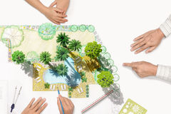Landscape architect meeting with client Royalty Free Stock Images