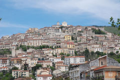 LANDSCAPE ARCHITECTURE OF PADULA,SALERNO,ITALY. PADULA,SUD ITALY,ARCHITECTURE LANDSCAPE Royalty Free Stock Photo