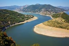 Landscape of Arda River and Kardzhali Reservoir, Bulgaria Stock Photography