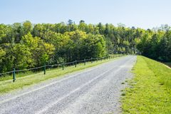 Landscape of The area around Long Pine Reservoir in Michaux Stat. E Forest in Central Pennsylvania Stock Images