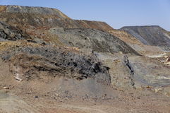 Landscape area mining, Spain Royalty Free Stock Photography