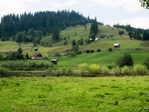Landscape of Argel`s Valley in Bucovina, Romania. Typical countryside landscape in Bucovina, Romania. Somewhere on the scenic route from Moldovita to Argel Stock Image