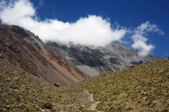 Landscape in Argentinian Andes Royalty Free Stock Photo