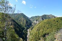 Landscape of Arges gorge Stock Image