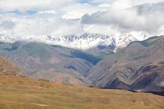 Landscape of arid Tien Shan mountains Stock Photos