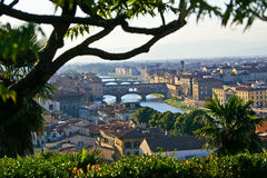 Landscape in Arno River Royalty Free Stock Photography