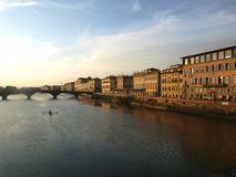 Landscape of arno river Stock Photo