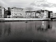 Landscape of arno river Stock Images