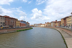 Landscape of Arno River in Pisa, Italy Stock Photography