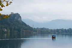 Landscape around Bled Lake in autumn in Slovenia Stock Photography