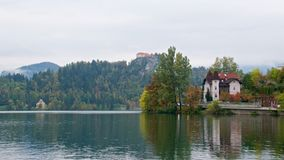 Landscape around Bled Lake in autumn in Slovenia Stock Photos