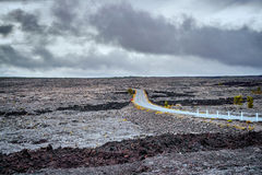 Landscape around the Chain of craters road in Big Island of Hawa Royalty Free Stock Photos