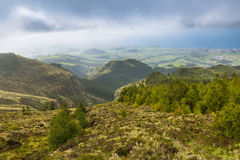 Landscape around the crater of the Pico to Fogo on the island of Stock Photo