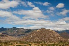 Landscape around Dianzu pre-hispanic ruins. Mexico Stock Images