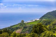 Landscape around Furnas, Sao Miguel Island, Azores archipelago. Portugal stock photography