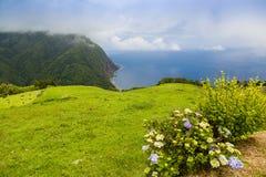 Landscape around Furnas, Sao Miguel Island, Azores archipelago. Portugal royalty free stock photo