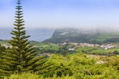 Landscape around Furnas, Sao Miguel Island, Azores archipelago. Portugal royalty free stock photos
