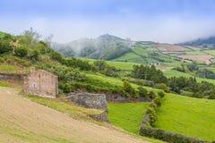 Landscape around Furnas, Sao Miguel Island, Azores archipelago. Portugal stock photos