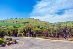 Landscape around Galilee Sea - Kinneret Lake Stock Photography