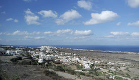 Landscape around grrece town fira on santorini Stock Photography