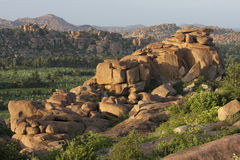 Landscape around Hampi in South India Stock Images