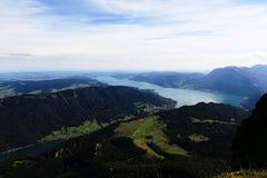 The landscape around Lake Attersee, Schafbergbahn, Salzkammergut, Salzburg, Austria Royalty Free Stock Photos