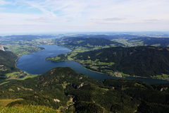 The landscape around Lake Attersee, Schafbergbahn, Salzkammergut, Salzburg, Austria Stock Photography