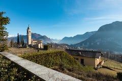 Landscape around Lugano, good weather Stock Photos