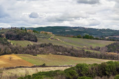 Landscape around Monteriggioni, Italy Stock Photos