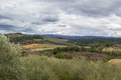 Landscape around Monteriggioni, Italy Royalty Free Stock Photo