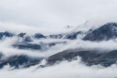 Landscape around Mt.Cook/Aoraki national park, New Zealand royalty free stock images