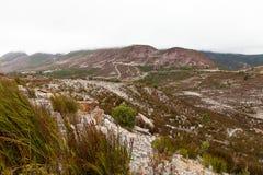 Landscape around Queenstown Tasmania stock photos