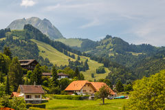 Landscape around small town of Gruyeres. Switzerland royalty free stock images