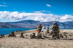 Landscape around Tso Moriri Lake in Ladakh, India Royalty Free Stock Photo