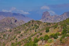 Landscape around Vallehermoso and Los Loros on La Gomera. royalty free stock images