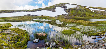 Landscape around the  Vikafjellsvegen National Tourist Route Royalty Free Stock Images