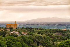 Landscape around Volterra, Tuscany, Italy Royalty Free Stock Photo