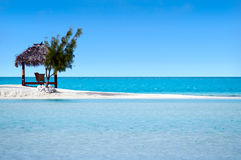 Landscape of Arutanga island in Aitutaki Lagoon Cook Islands Stock Photos