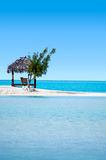 Landscape of  Arutanga island in Aitutaki Lagoon Cook Islands Royalty Free Stock Images
