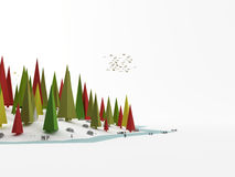 Landscape as low poly Stock Images