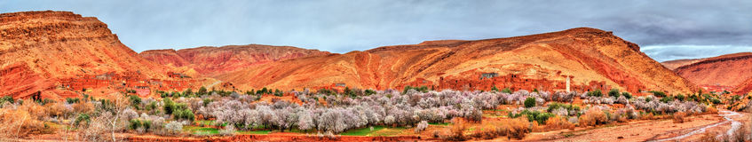Landscape of the Asif Ounila valley in the High Atlas Mountains, Morocco Royalty Free Stock Image